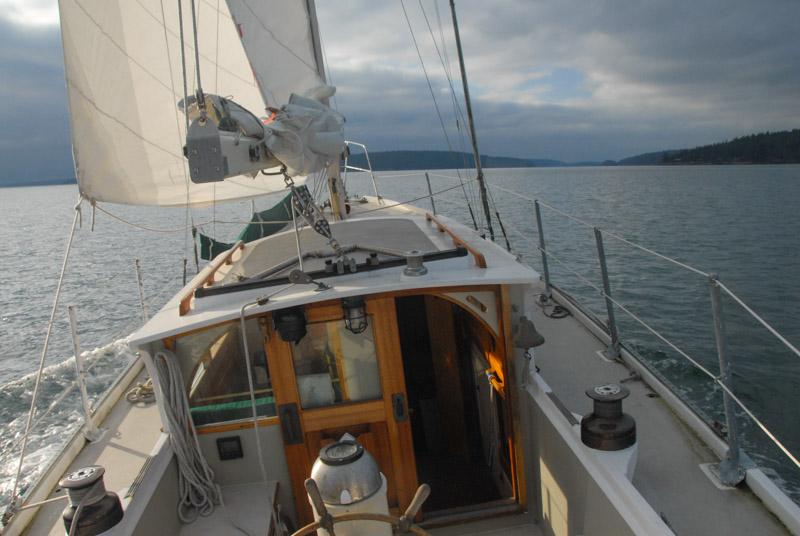S/V Peniel sailing Rosario Strai to San Juan Islands - All Aboard Sailing Charters