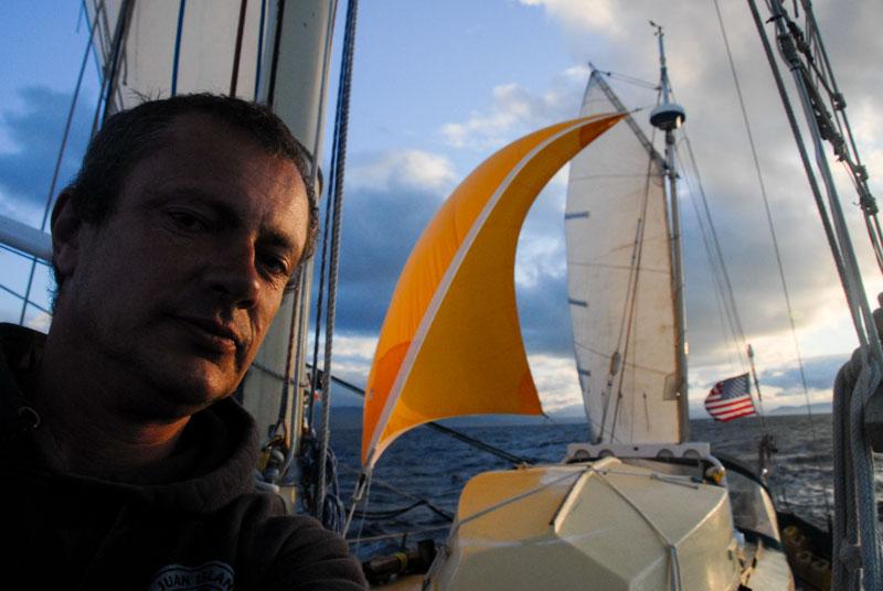 Sailing home stretch Straits of Juan de Fucca