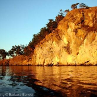 Sunset Moonrise sail to Lovers Leap, Stuart Island