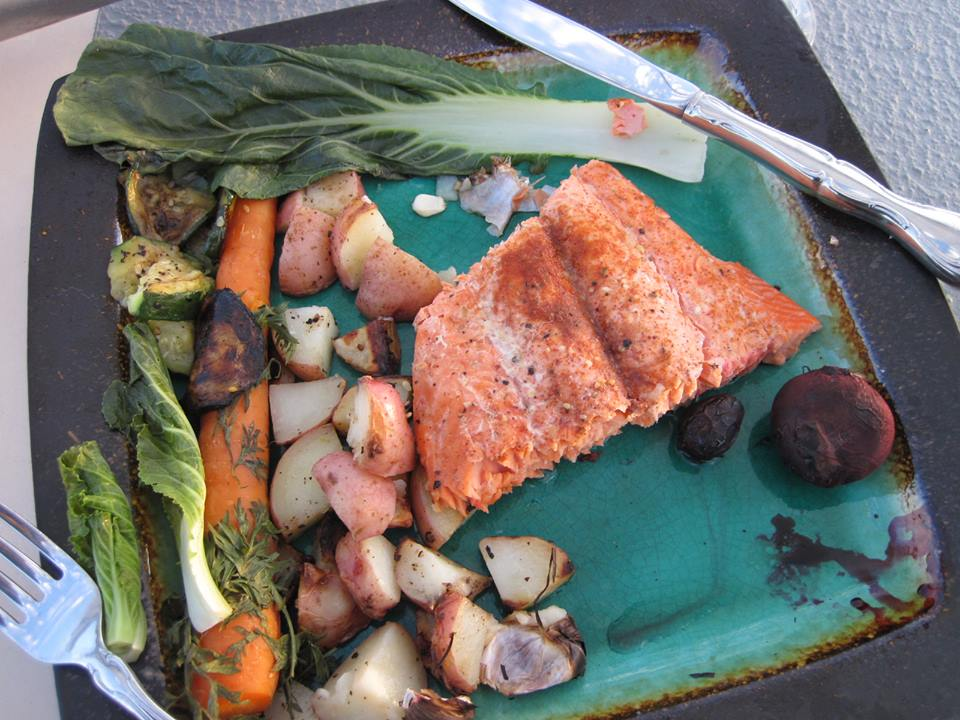 BBQ Salmon Super at sunset
