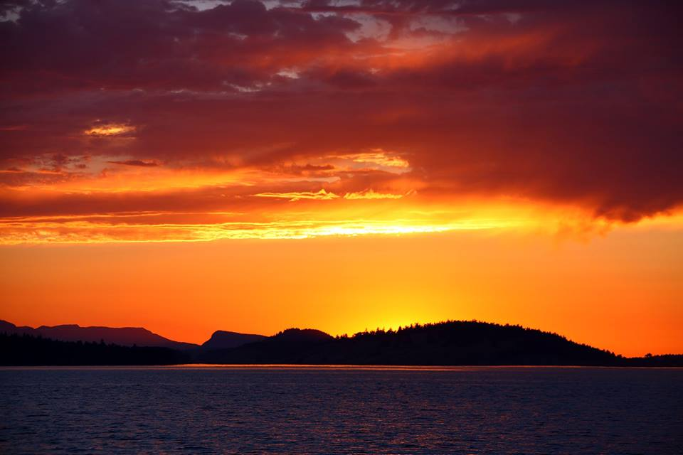 Sunset San Juan Islands