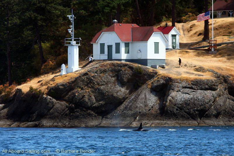 K13 Skagit passing Turn Point Lighthouse