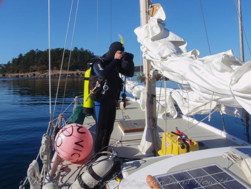 Diving, Patos Island, Sailing Vessel Peniel, San Juan Islands, All Aboard Sailing
