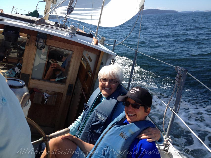 Mother and daughter sail
