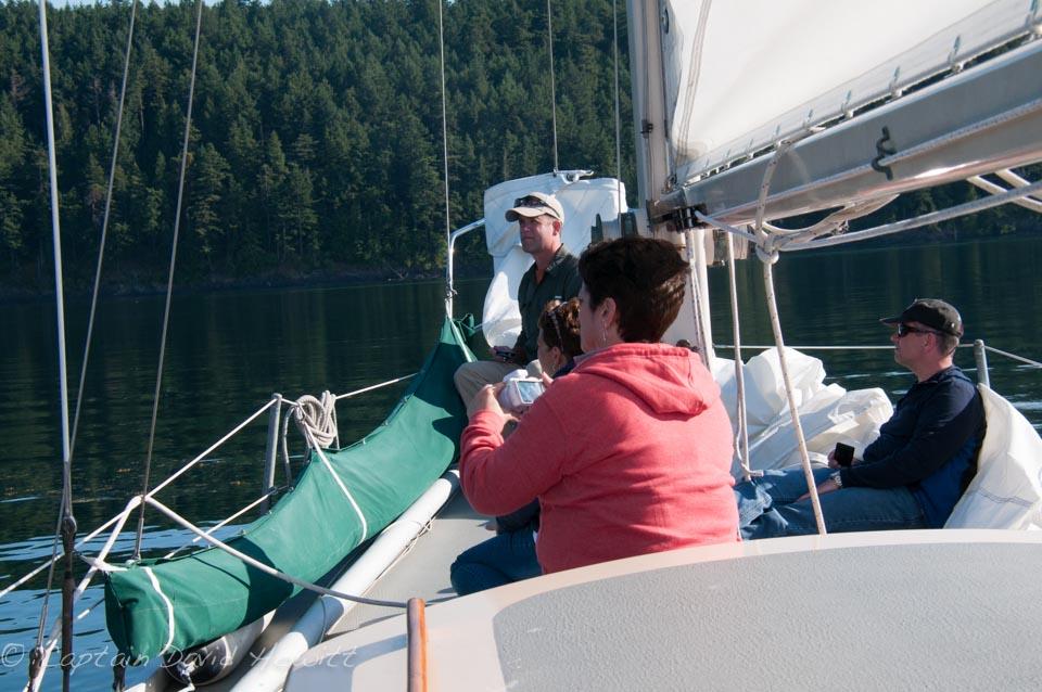 All Aboard sailing North of Stuart Island