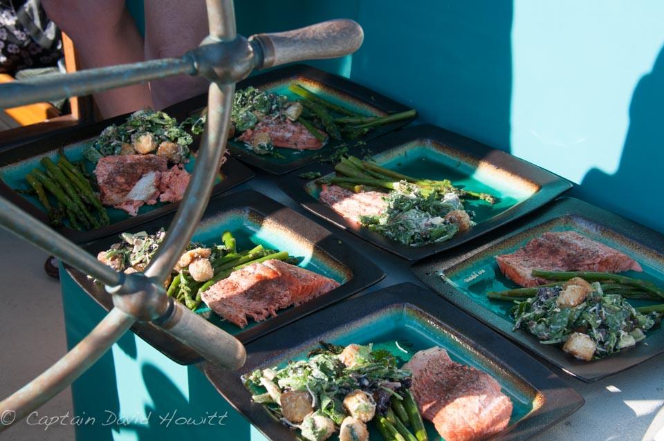 All Aboard Sailing Barbecue salmon