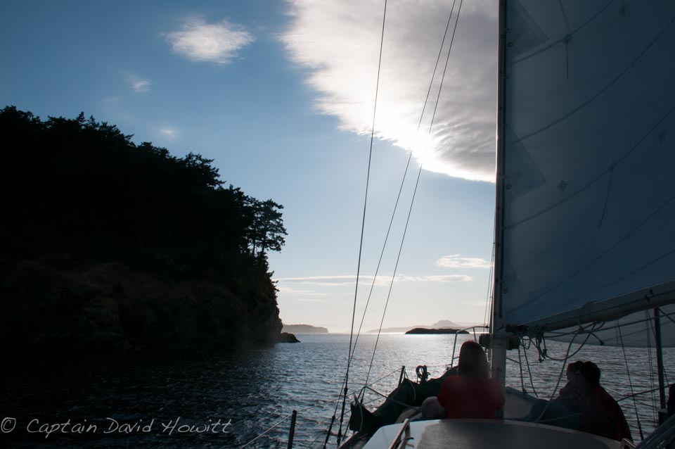 Sails out of Friday Harbor arround the San Juan Islands