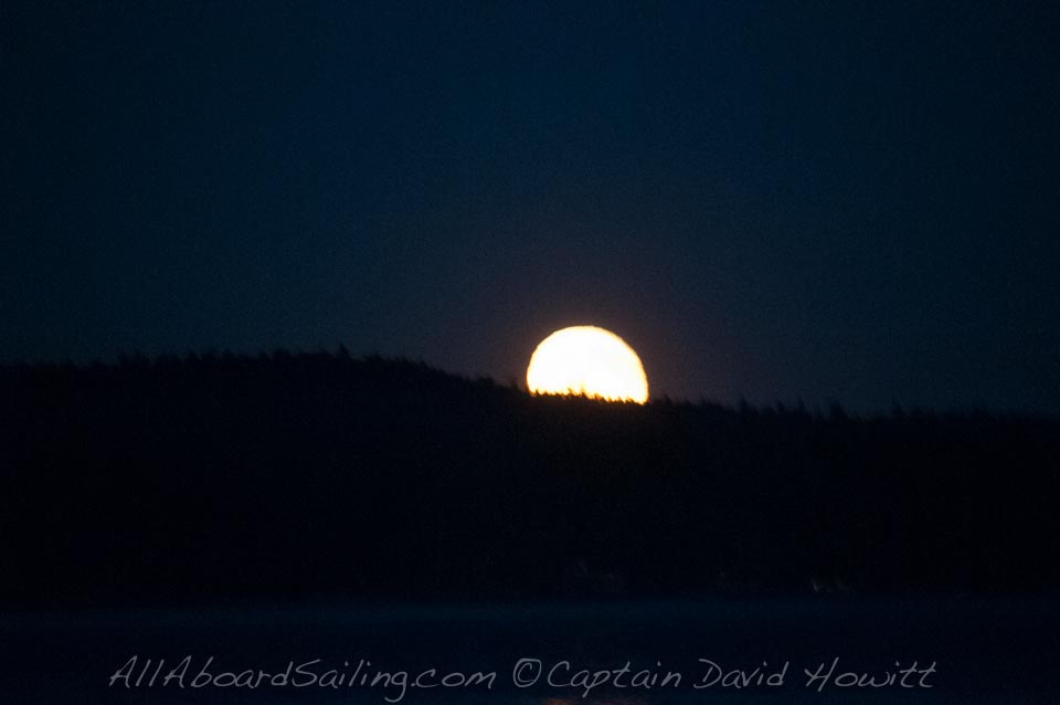 Moonrise over Orcas Island