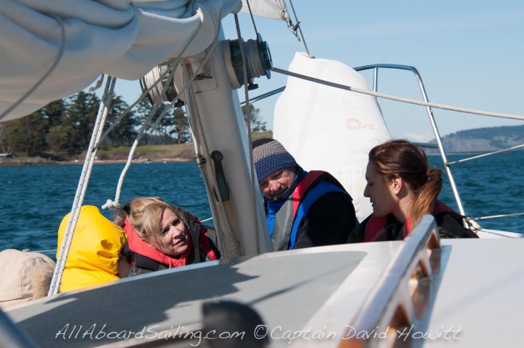 Sailing North from., Friday Harbor, San Juan Island