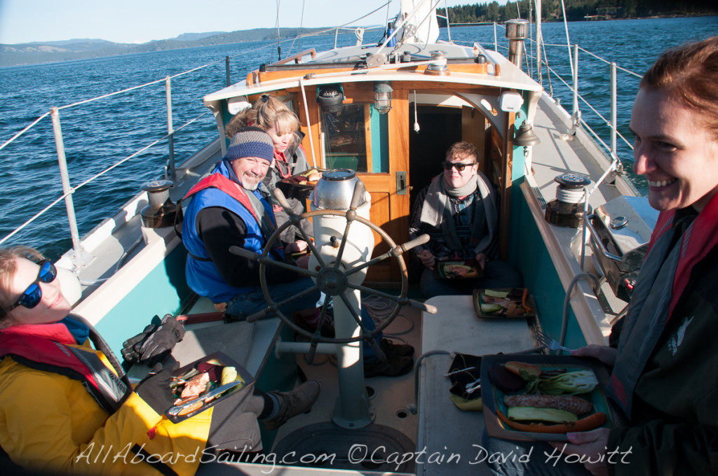 BBQ salmon supper in Speiden Channel
