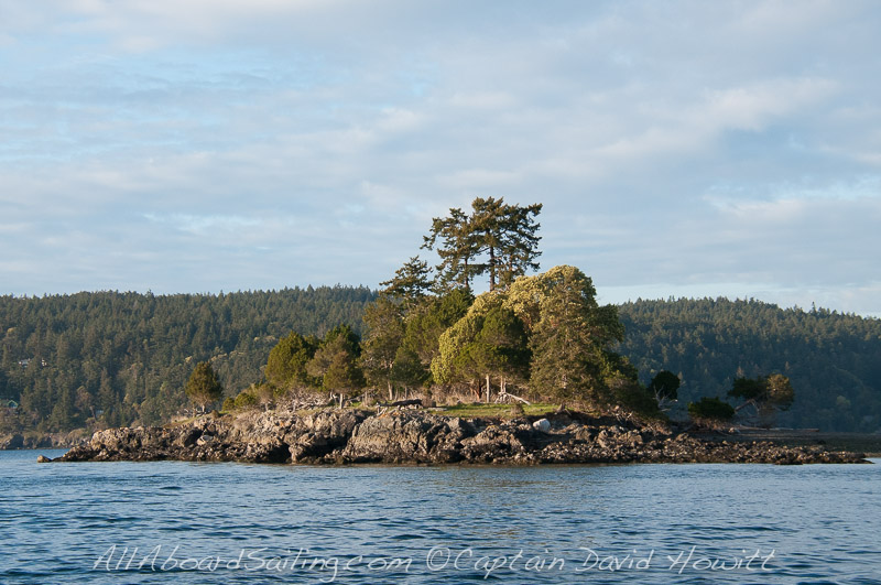 McConnell Island, sailing in the San Juan Islands