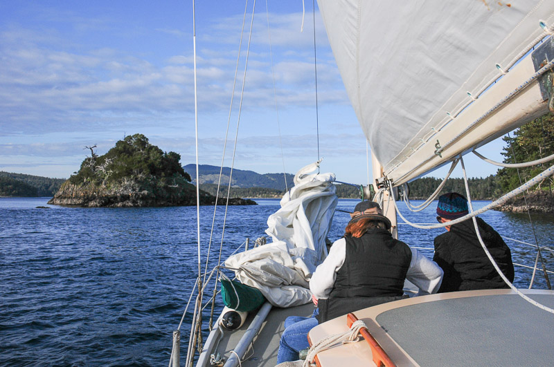 Nob Island. Sailing in the San Juan Islands