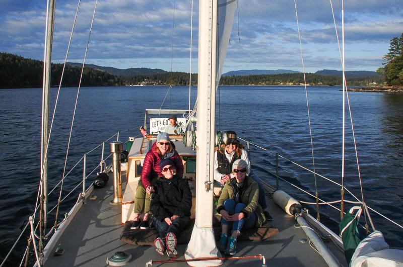 Sailing in the San Juan Island