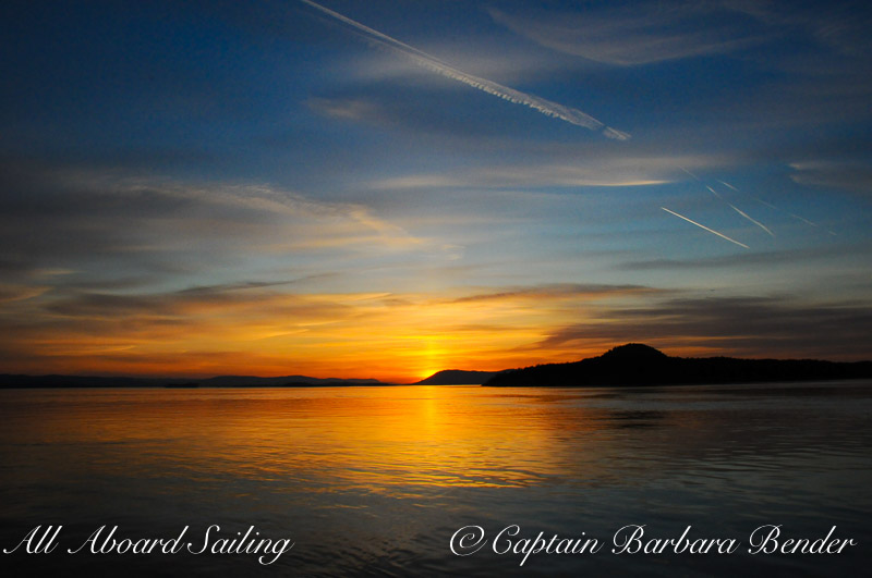Sunset Haro Strait, San Juan Islands