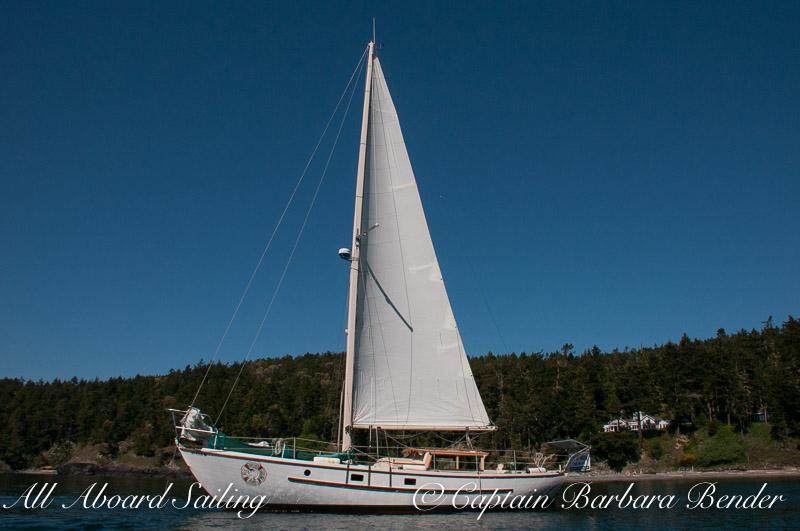 Peniel at anchor in McArdle Bay