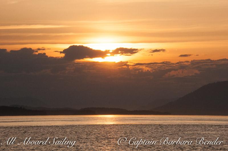 Sunset Sailing in the San Juans