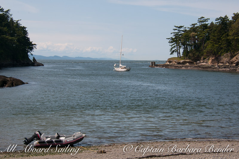 Peniel anchored Active Cove, Patos Island, Sailing San Juan Islands