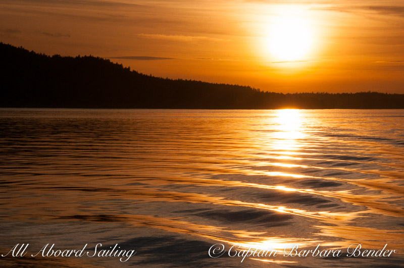 Sunset sail San Juan Island