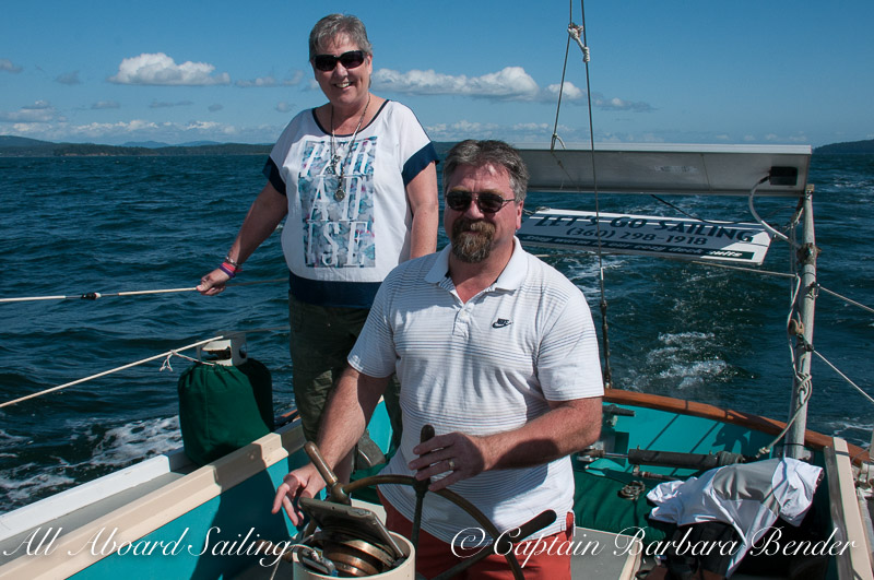 Downwind San Juan Channel — with Sheila Martin and Bruce Martin