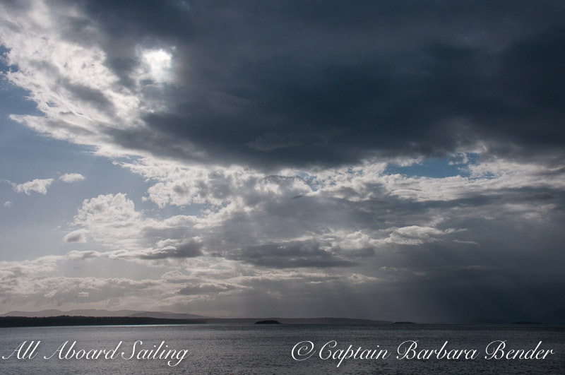 Storm clouds roll in, Haro Strait