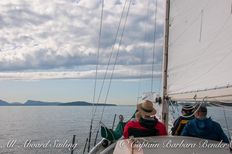 Sailing North from San Juan Island