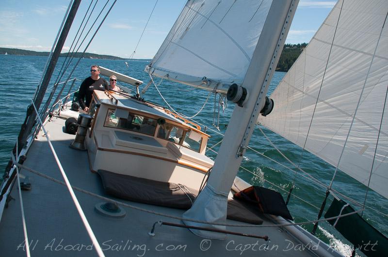 Sailing North San Juan Channel