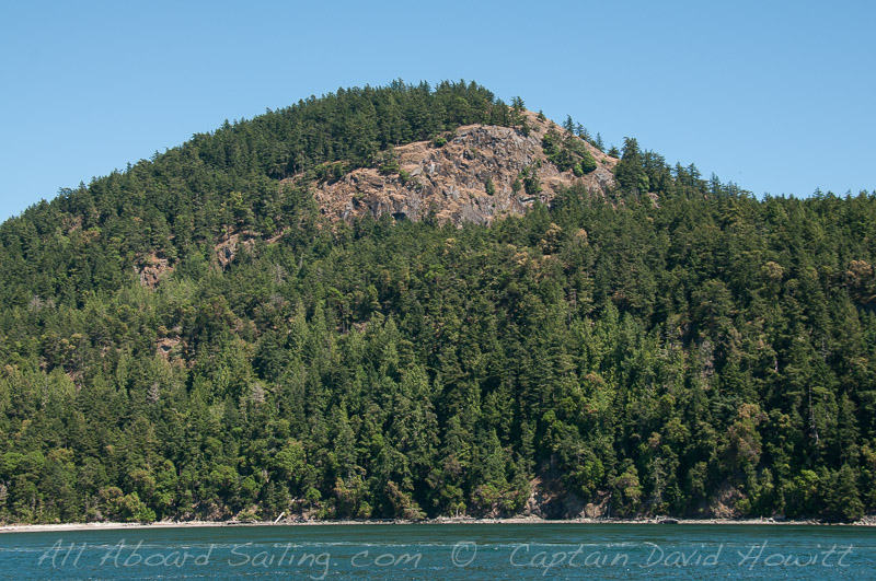 Turtle Back Mountain from Presidents Channel, Orcas Island