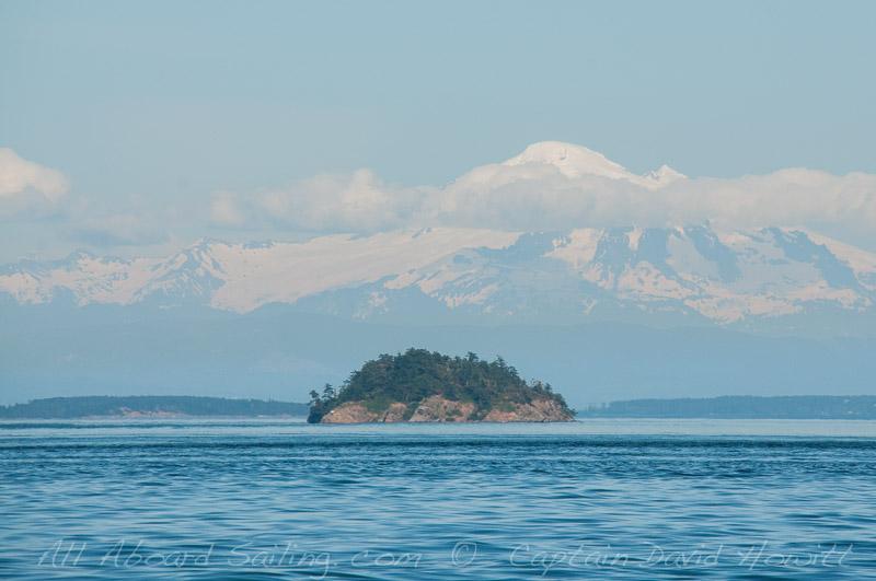 Skipjack Island and Mount Baker