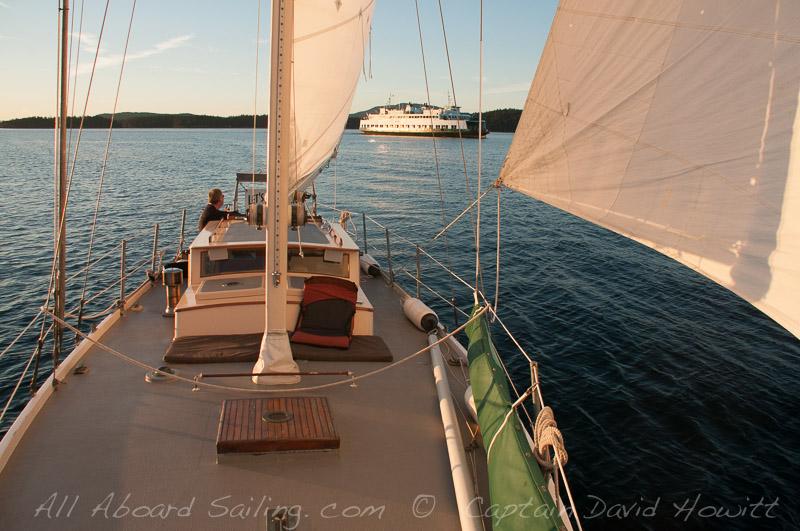 Sailing into Friday Harbor
