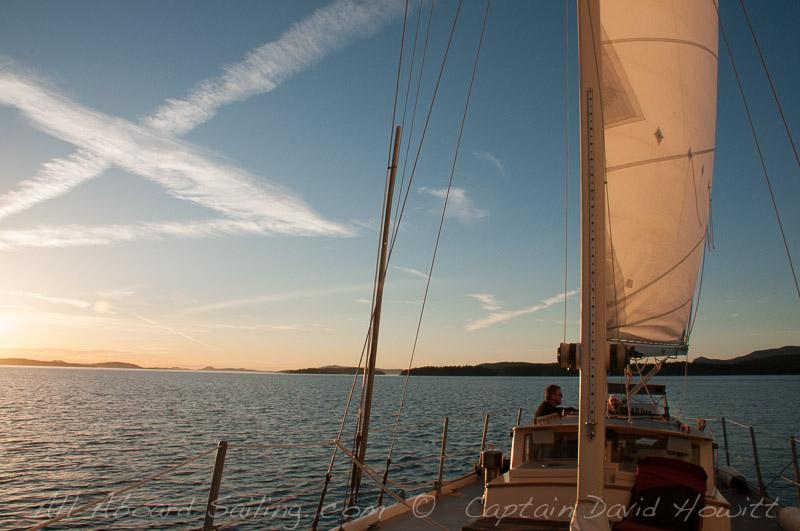 Sunset Sailing San Juan Channel