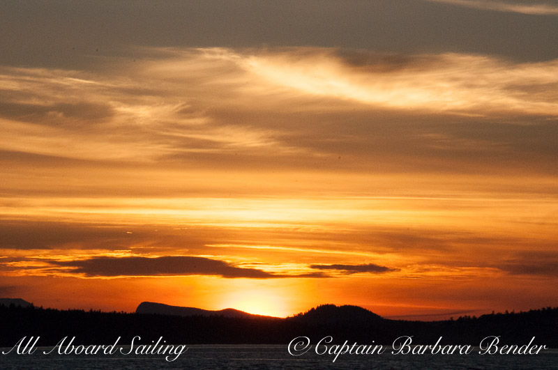 Sunset Sail South down San Juan Channel