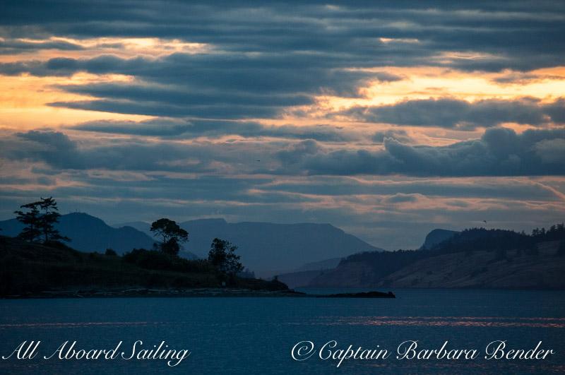 Sunset Sailing in the San Juan Islands