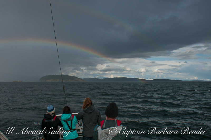 Sailing under a double rainbow