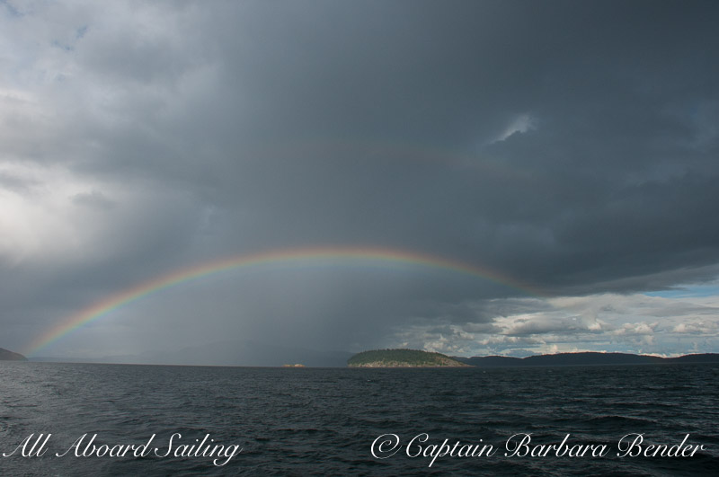 Double Rainbow over Flattop Island