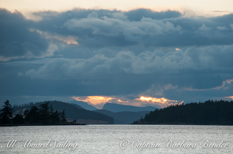 Sunset over the San Juan Islands