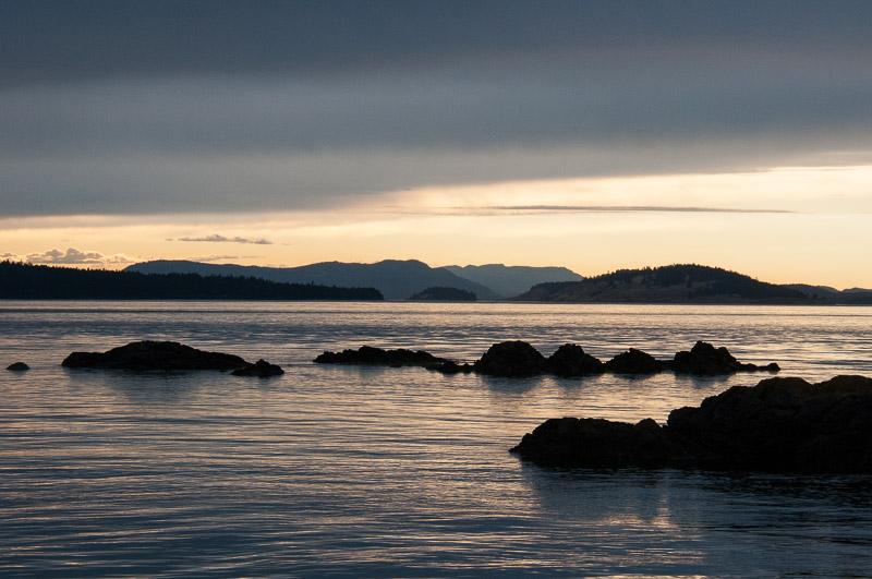 Sunset over San Juan Islands from Wasp Pass