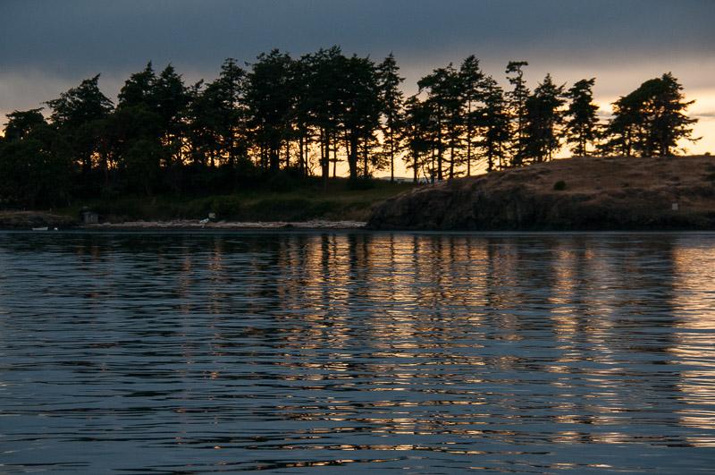 Sunset San Juan Islands - Yellow Island