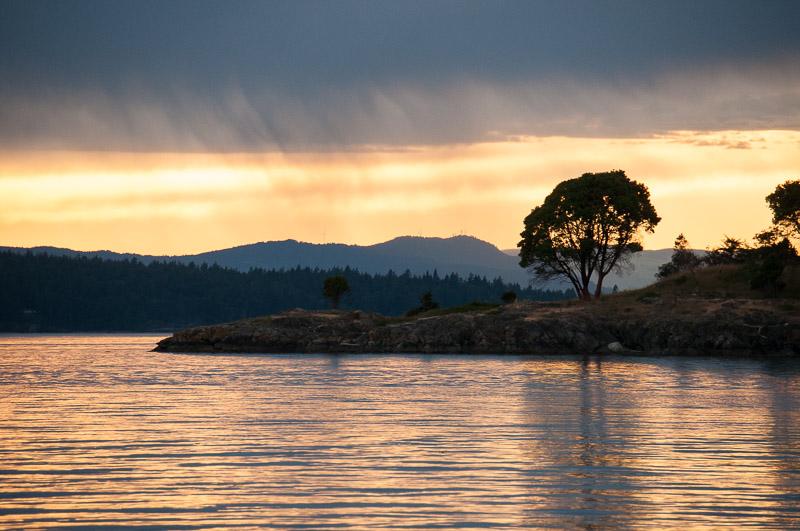 Yellow Island sunset