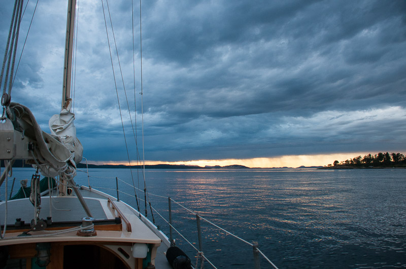 Evening light sailing in San Juan Channel