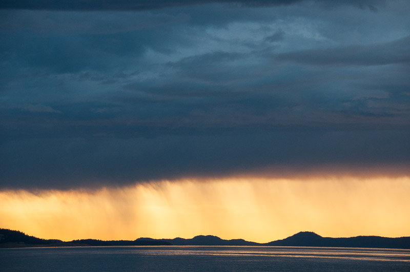 Rain at Sunset in San Juan Channel