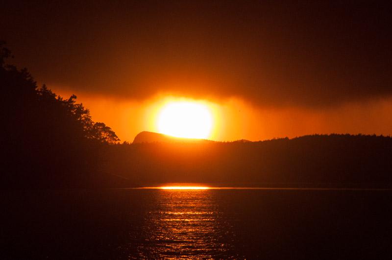 Sunset Rain San Juan Island