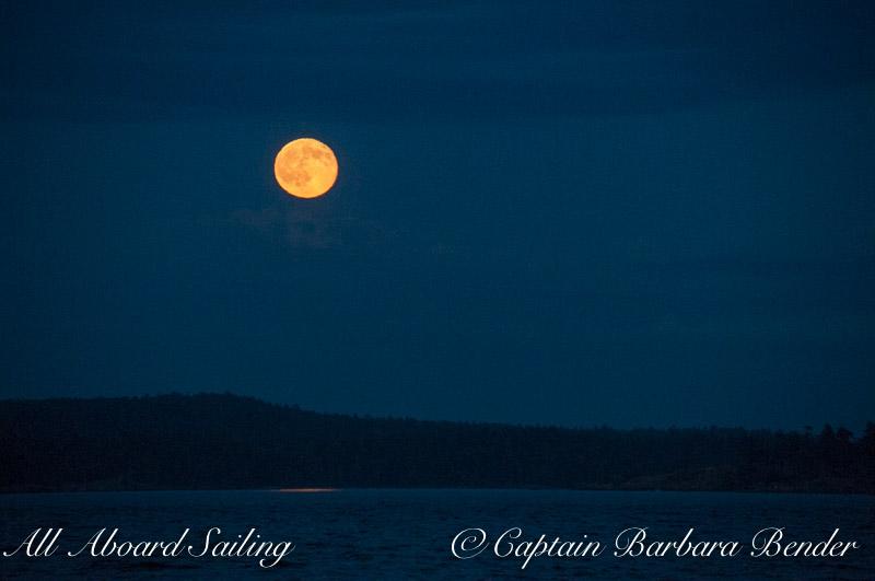 Summer Solstice full moon rise