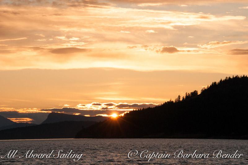 Sunset in Speiden Channel