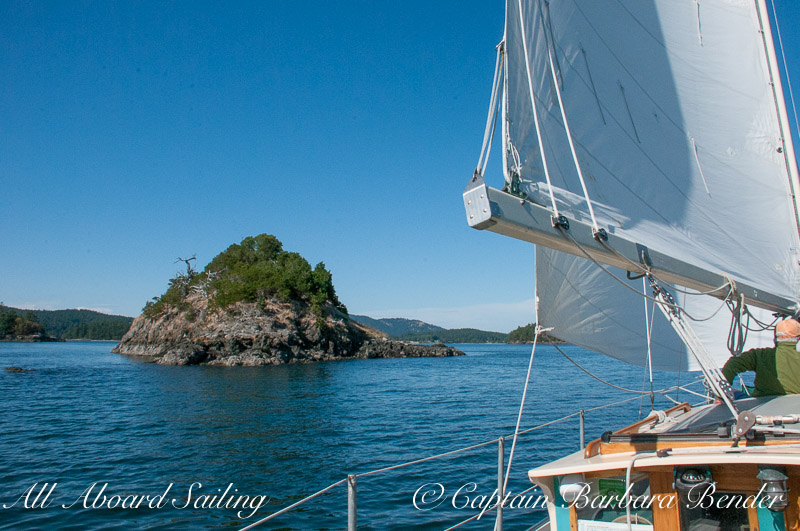Sailing Nob Island, San Juan Islands