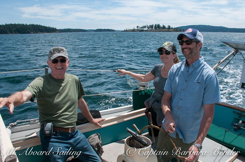 Family activity sailing
