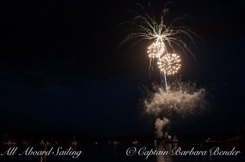 Fireworks begin at Deer Harbor, Orcas Island