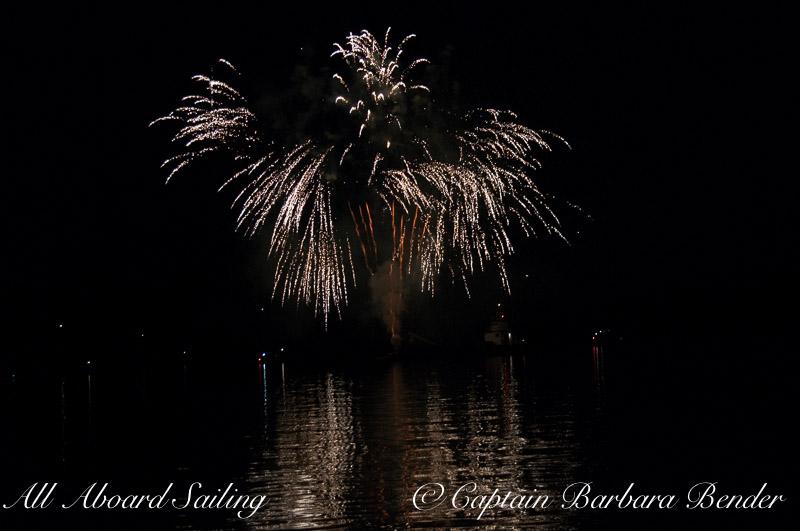 waterfalls Fireworks - Deer Harbor, Orcas Island