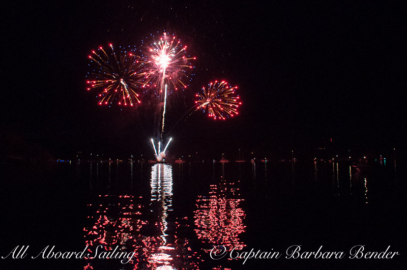 The finale Fireworks - Deer Harbor, Orcas Island