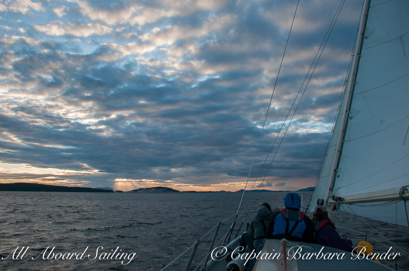 Sunset sail Charter in the San Juan Islands
