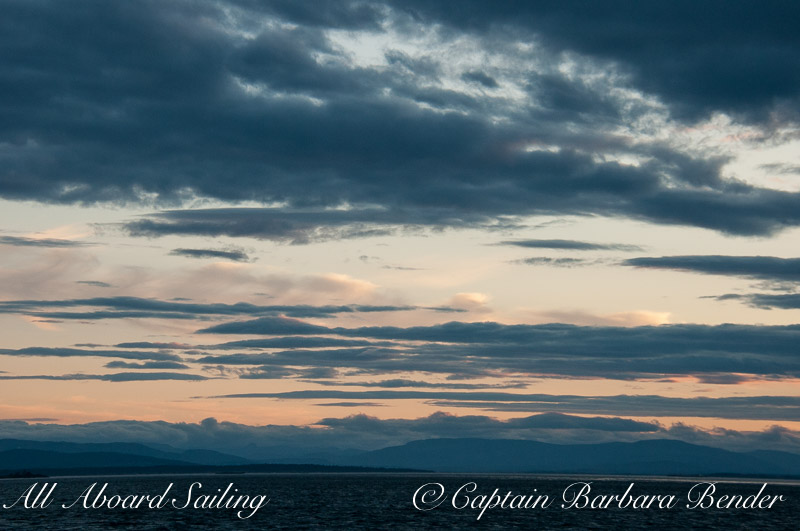 Sunset sail charter San Juan Island